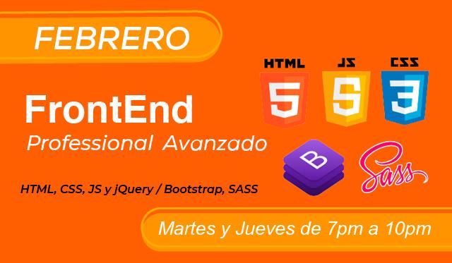 FrontEnd / Html Profesional Avanzado