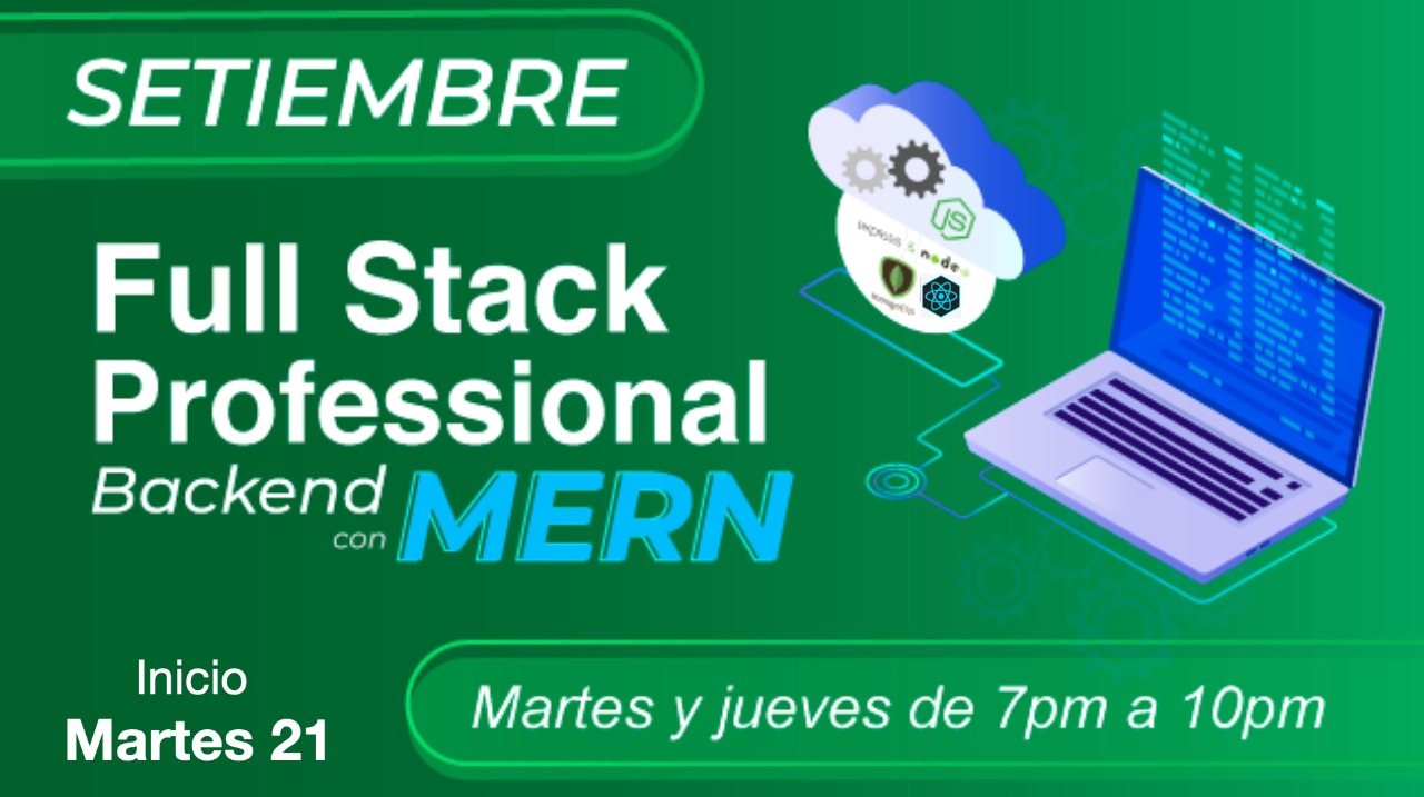 Backend Full Stack con MERN (mongo ,Express, React, Node)